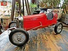A RED BANTAM MIDGET VINTAGE RACING CAR, TETHER RACER, AUTHENTIC MODELS, STUNNING