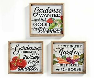 "9.5"" Vegetable Gardening Wall Plaque(s)"