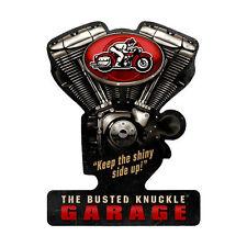 Busted Knuckle Garage Classic V Twin Motorrad Retro Sign Blechschild Schild Groß