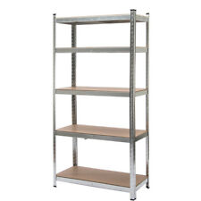 New 5 Level Heavy Duty Shelf Garage Steel Metal Storage Rack Adjustable Shelves