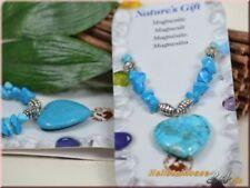 Markenlose Modeschmuck-Halsketten & -Anhänger mit Herz Türkis