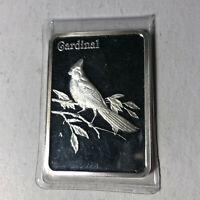 Hamilton Mint, Birds of America, Cardinal Silver Art Bar