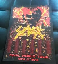 2019 RARE SLAYER THE FINAL CAMPAIGN BATTLEFIELD WORLD TOUR OFFICIAL POSTER PRINT