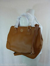 NWT Tory Burch Luggage Brown Saffiano Leather Robinson Double-Zip Tote - $575