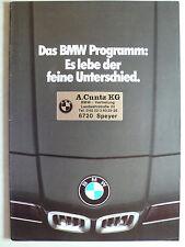 Prospectus BMW programme, 1.1980, 20 pages avec m1, Affiche 3.0 CSL CALDER, Warhol