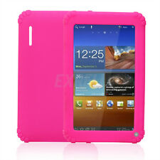 """New Pink Soft Silicone Cover Case for 7 inch 7"""" Android Capacitive PC Tablet"""