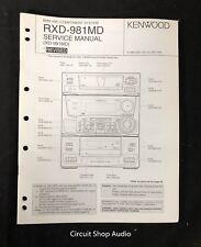 Original Kenwood RXD-981MD HIFI System Service Manual