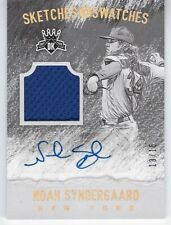 NOAH SYNDERGAARD PANINI DIAMOND KINGS DK SKETCHES & SWATCHES SIGNATURE GOLD /15