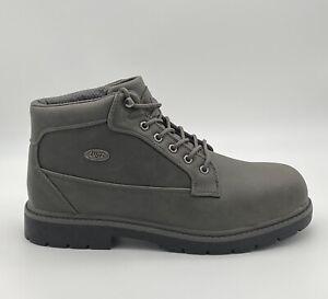 Lugz Mantle Mid - Asphalt Grey Black - Men's Chukka Boot Size 13