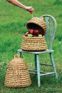 Bee Skep Basket Set of 2 Handmade Baskets