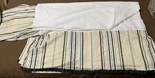 """Waverly Grosgrain Queen Split Corner Bedskirt / dust ruffle 14.5"""" Drop"""
