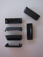 Orig. Wasserschlitzkappen 20 Stk für Alu-Fenster Farbe: schwarz, System Schüco