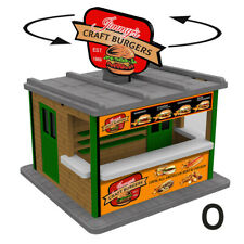 O Gauge Jimmy's Burger Stand w/Motorized Rotating Banner and Lighting