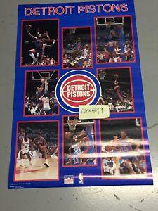 Vintage 1987 DETROIT PISTONS 34 x 22 NBA Starline Poster Unused