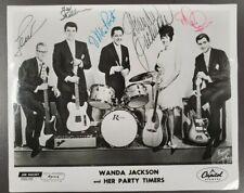 Wanda Jackson Vintage and Rare 8x10 Autographed photo with whole band
