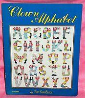 Just CrossStitch Circus Clown Alphabet Cross Stitch Chart Pattern Leaflet ABCs