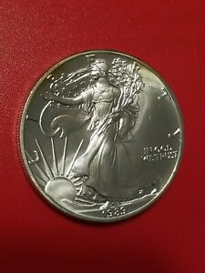 1989 American Silver Eagle 1 Troy Oz. .999 Fine One Dollar Coin Uncirculated