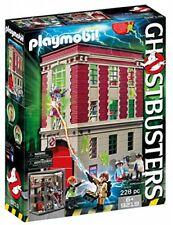 PLAYMOBIL Ghostbusters Firehouse Spengler Stantz Library Ghost Janine Fire Pole