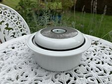 More details for large round grey black white thomas germany tureen vegetable serving dish