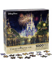 Main Street Usa Walt Disney World Resort Castle Puzzle Thomas Kinkade Fireworks
