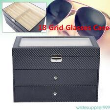 18 Grids Eyeglass Sunglasses Drawer Storage Display Box Holder Organizer Case