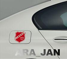 daBOSS Vinyl Decal Sticker Sport Racing Speed car gas fuel tank emblem logo RED