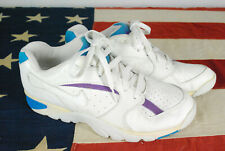 Vintage 90s 1992 Nike Air Cross Trainer Shoes Sneakers White Deadstock Blue