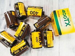 x10 Kodak 35mm expired film lot 400 speed iso 24 exp 9 color 1 400TX BW