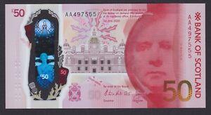 2020 AA prefix 'LEOPARD 555' Bank of Scotland £50 - Horta-Osorio / Grant - UNC