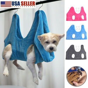 Pet Hammock Helper Dog Cat Grooming Hammock Restraint Bag Bath Nail Trimming US