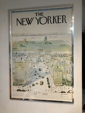 "New Yorker Saul Steinberg 1976 Original Print With Frame Rare Poster (40""x28"")"