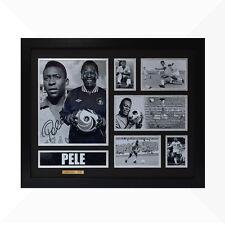 Pele Signed & Framed Memorabilia - Black/Silver - Limited Edition