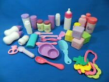 Lot 31 Pc Baby Doll Care Feeding Nursery Accessories Assorted Pretend Play Set