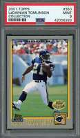 2001 topps collection #350 LADAINIAN TOMLINSON san diego chargers rookie PSA 9