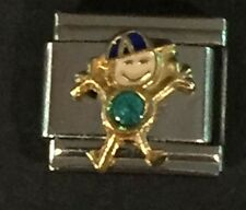 ITALIAN CHARMS DECEMBER BIRTHSTONE LITTLE BOY D'LINQ BRAND 9MM MODULAR NEW