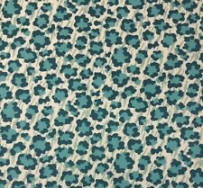 "P KAUFMANN SIMBA PALM TEAL BLUE ANIMAL LEOPARD PRINT FABRIC BY THE YARD 54""W"
