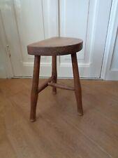 Mid Century Danish tripod stool milking chair