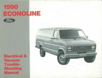 OEM Repair Maintenance Shop Manual Bound for Ford Truck Econoline - Evtm 1990