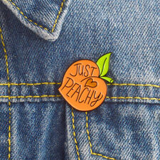 Just Love Peach Cute Butt Shape Peach Lovely Cartoon Brooch Enamel Pins Badge