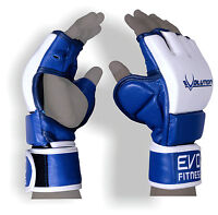 EVO Leather MMA Gloves Martial Arts UFC Kick Boxing Muay Thai Sparring Grappling