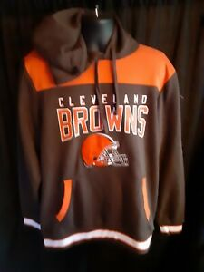 Cleveland Browns NFL Men's G-III Hooded Pullover Sweatshirt Front/Back Design