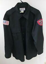 Admiral Security Services Black Uniform Shirt 18 / 18.5 34 /35 XL