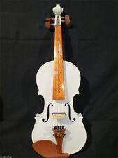 Pretty white color best model 4/4 electric violin +Acoustic violin #8172