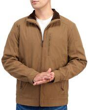 London Fog Mens Tan Khaki MicroFiber Barn Style Jacket NWT $200 Size S