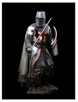 1/18 90MM Templar Knight, XII Century Resin Model Miniature figure Unassembly
