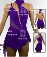 New listing Figure Skating Dress Girls' Ice Skating Dress purple unJeweled Sleeveless