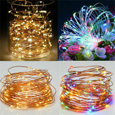 LED Fairy String Lights Copper Wire Lamp Christmas Tree Ornments Garden Decor