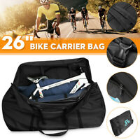 26'' Bike Carry Bag Travel Bags Box Bicycle Folding Pouch Bike Transport Cases