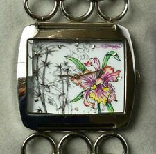 Ed Hardy Quarz Armbanduhr für Damen Edelstahl Damenuhr Damenarmbanduhr