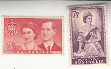 Australia 1954. Royal Visit The Queen & Prince Philip. Sg 272-273. Mnh